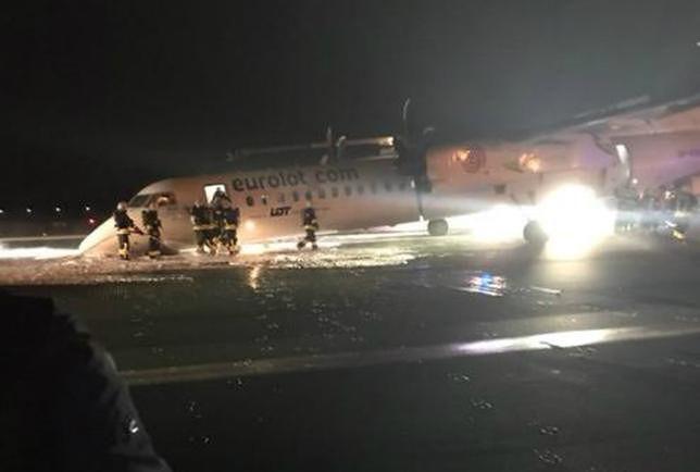 Awaryjne lądowanie na Okęciu. Nieoficjalnie: LOT nie planuje uziemienia bombardierów