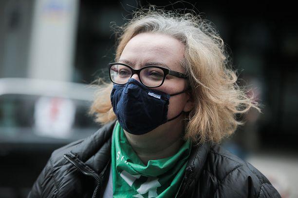 Marta Lempart, liderka Strajku Kobiet, jest jedną z inicjatorek masowych protestów w obronie praw kobiet. (Photo by Krzysztof Zatycki/NurPhoto via Getty Images)
