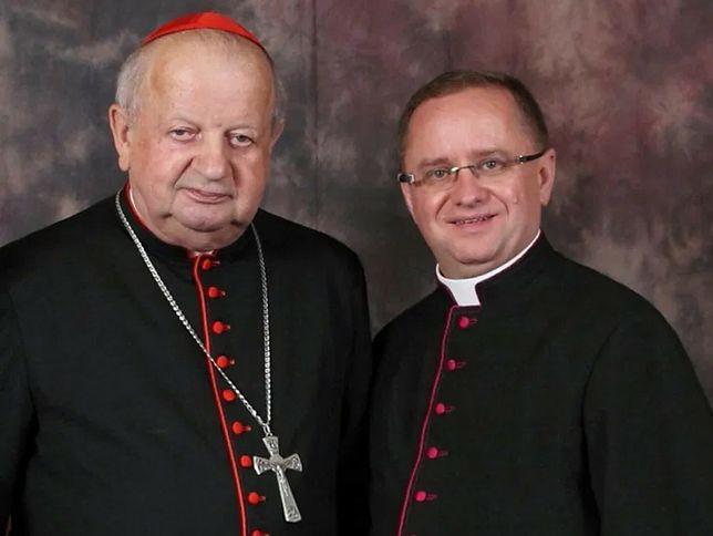 Kardynał Stanislaw Dziwisz i rektor seminarium Orchard Lake ks. Mirosław Król