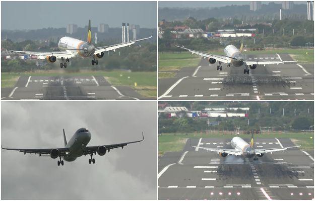 Krok od tragedii. Wiatr niemal dosłownie zdmuchnął samolot z pasa startowego