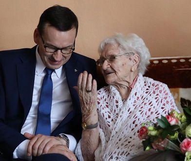 Mateusz Morawiecki ze 113-letnią Teklą Juniewicz