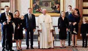 Donald Tusk z rodziną na spotkaniu z papieżem Franciszkiem