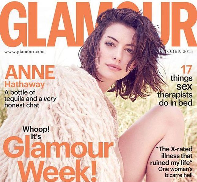 Anne Hathaway w październikowym Glamour UK