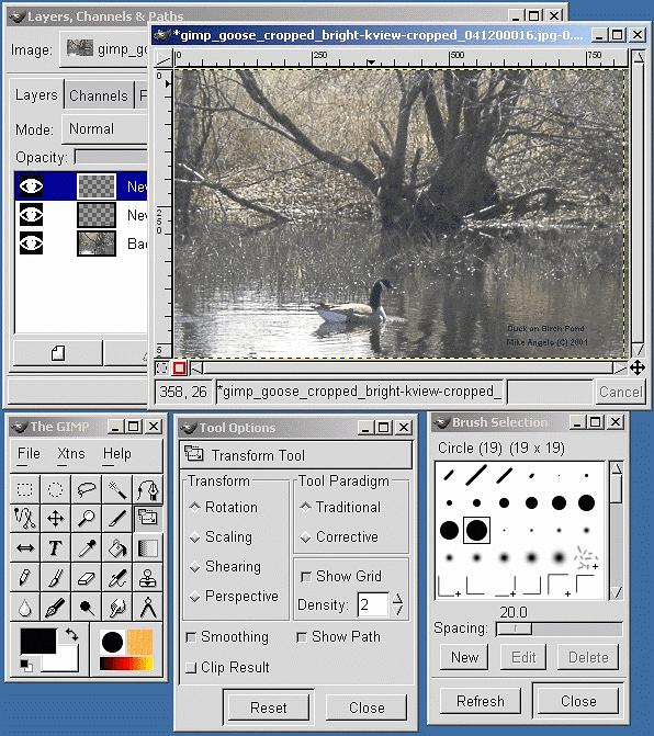 GIMP 1.2 na Windowsie 2000
