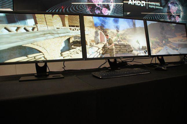 Zestaw dla graczy lubiących mieć przewagę w grach online: Eyefinity z nowym GPU Fiji