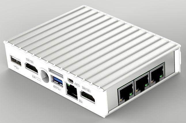 Fitlet z modułem FACET (tu wersja z trzema portami gigabitowego Ethernetu)