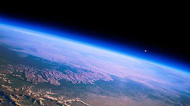 """Krótkofalarstwo — """"You won't belive it but you can talk to someone in space"""" - Widok z balonu Near Space nad Wielkim Kanionem"""