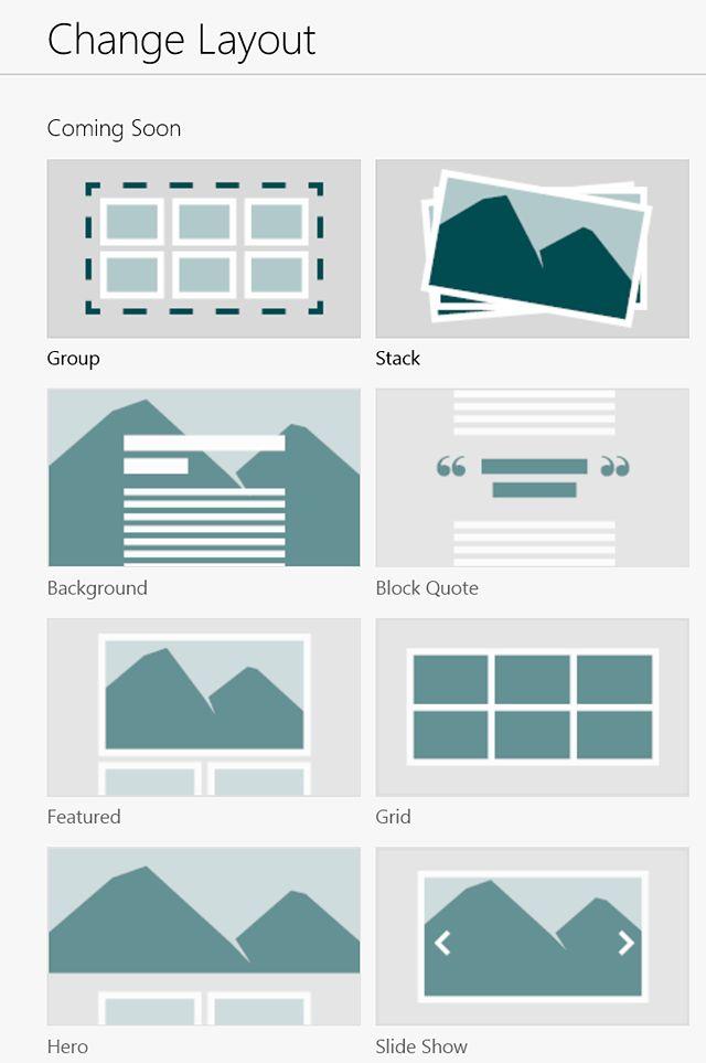 Gotowe layouty prezentacji do wyboru