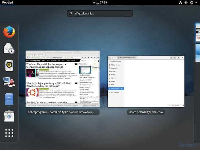 GNOME 3.24 w domyślnej konfiguracji