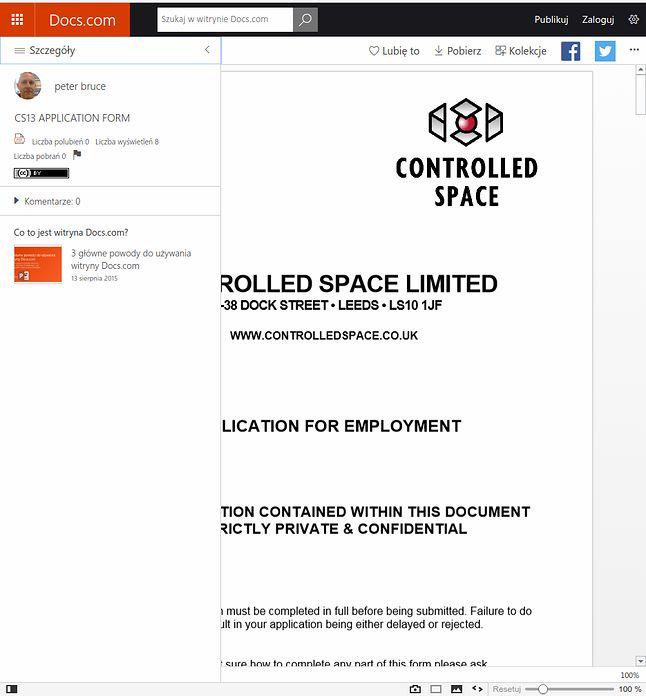 """""""Strictly private and confidential"""" – takich dokumentów w chmurze Docs.com znajdziemy pełno"""