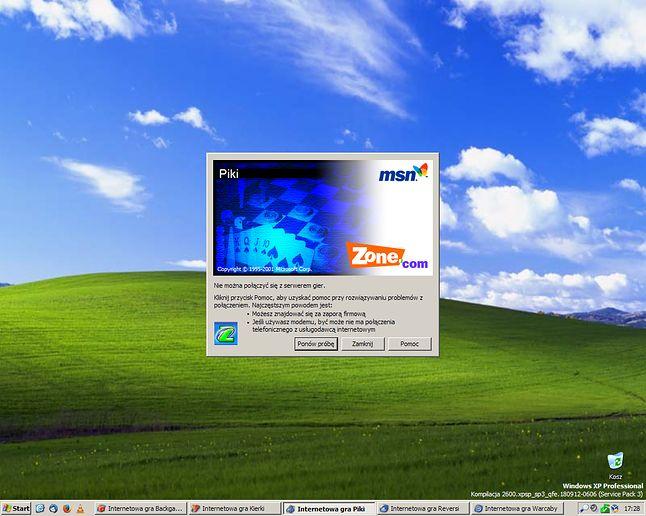 Wersja z XP również nie działa