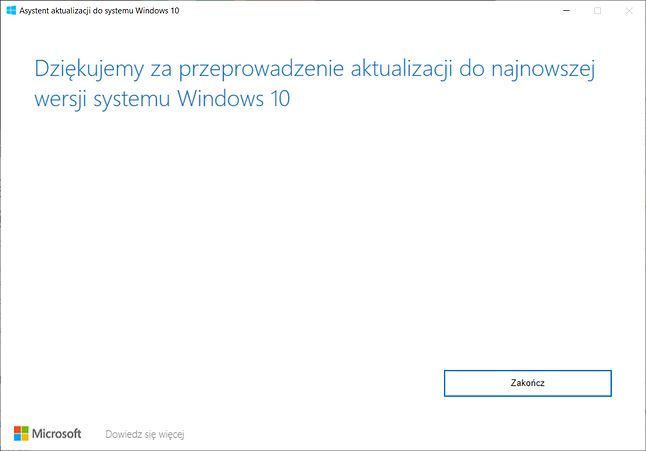 Asystent Aktualizacji  do systemu Windows 10.