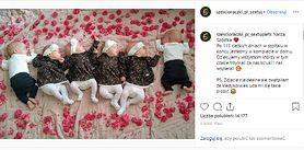 """Sześcioraczki z Krakowa. Klaudia Marzec wrzuciła urocze zdjęcie dzieci: """"Zwątpiłam, że kiedykolwiek uda mi się takie zrobić"""""""