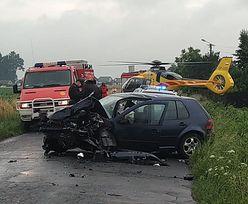 Tragedia pod Wieluniem. Kierowca bmw nie przeżył zderzenia z autem 18-latka