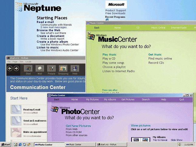 Centra Aktywności (fot.Microsoft, via BetaArchive)