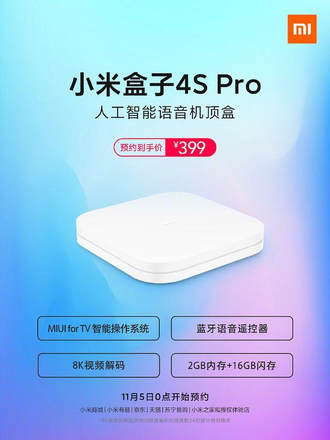 Xiaomi Mi Box 4S Pro, źródło: Xiaomi/Weibo.