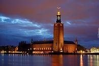 Alternatywna impreza z uroczystym przyznawaniem nagrody Nobla w transmisji DVB-T2 - Ratusz sztokholmski w czasie wręczania Nagród Nobla