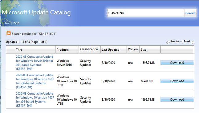 Rozmiar aktualizacji do Windows Server 2016 stanowi 34% objętości jego źródła instalacyjnego.