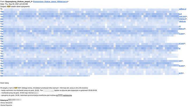 GUS, adresy mailowe Polaków