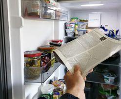 Włóż gazetę do lodówki. Efekt nastąpi już po kilkunastu godzinach
