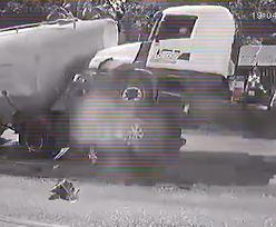Samochód zmiażdżony między ciężarówkami. Nie żyje pięcioosobowa rodzina