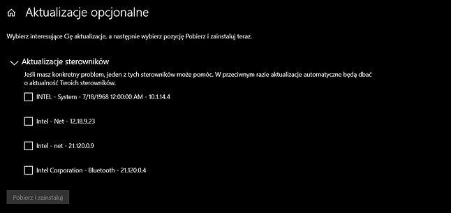"""W Windows Update pojawiły się tajemnicze sterowniki """"Intel - System"""" z 1968 roku, fot. Oskar Ziomek."""