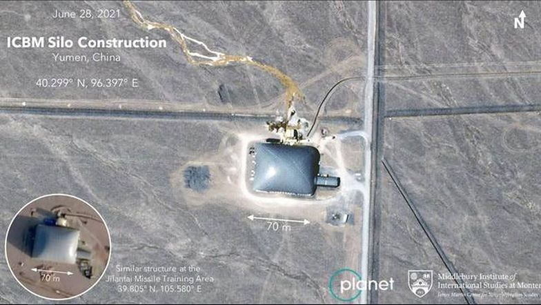 Satelita uchwycił, co Chińczycy mają na pustyni. Świat może się bać