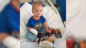 Dziecko z rzadkim nowotworem. Śmiech był objawem choroby (WIDEO)
