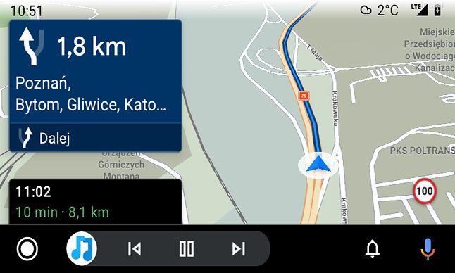 Sygic w Androidzie Auto, fot. Oskar Ziomek