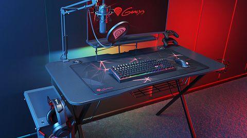 Genesis Holm 300 – ergonomiczne biurko dla gracza, z diodami RGB i hubem USB 3.0