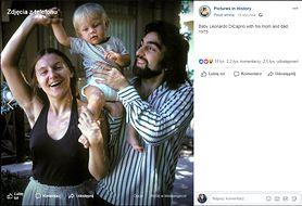 Leonardo DiCaprio z rodzicami. Zdjęcie z 1975 roku wywołało burzę