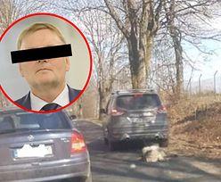 Były senator PiS zatrzymany. Jechał z psem przywiązanym do samochodu