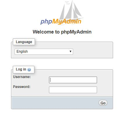 Kontener z aplikacją phpMyAdmin