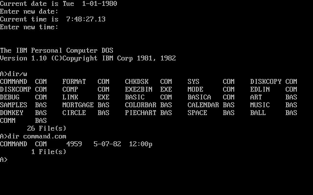 IBM PC-DOS - odmiana DOS'a spotykana na komputerach IBM