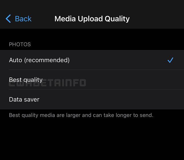 Opcje wysyłania zdjęć w WhatsAppie