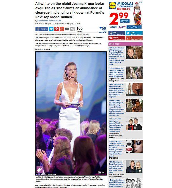 Joanna Krupa doceniona przez Daily Mail
