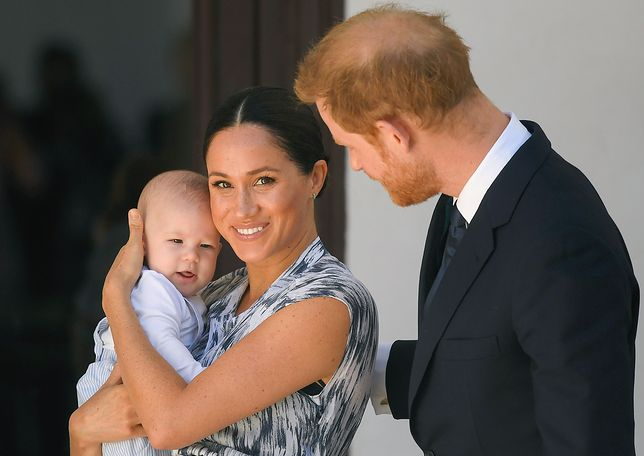 Meghan Markle i książę Harry z synem Archiem