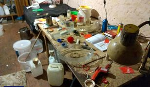 Dolnośląscy funkcjonariusze zlikwidowali fabryczkę, w której wytwarzano metamfetaminę