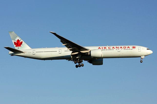Samolot linii Air Canada wpadł w silne turbulencje