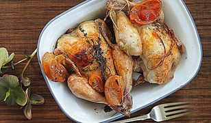 Kurczaki pieczone z kiszonymi cytrusami i tymiankiem