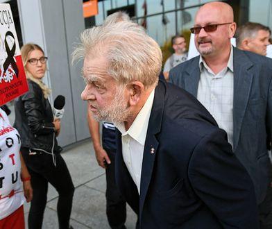 Andrzej Gwiazda kontra protestujący