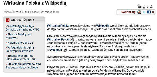 Wirtualna Polska z Wikipedią