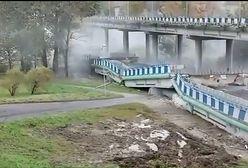 W Koszalinie zawalił się wiadukt. Nowe nagranie