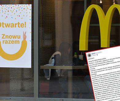 """Klient McDonald's stanął w obronie niepełnosprawnego pracownika. Sieć: """"Zdarzenie nie powinno mieć miejsca"""""""