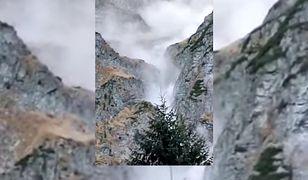 Potężna lawina w Tatrach. W kierunku Morskiego Oka leciały głazy