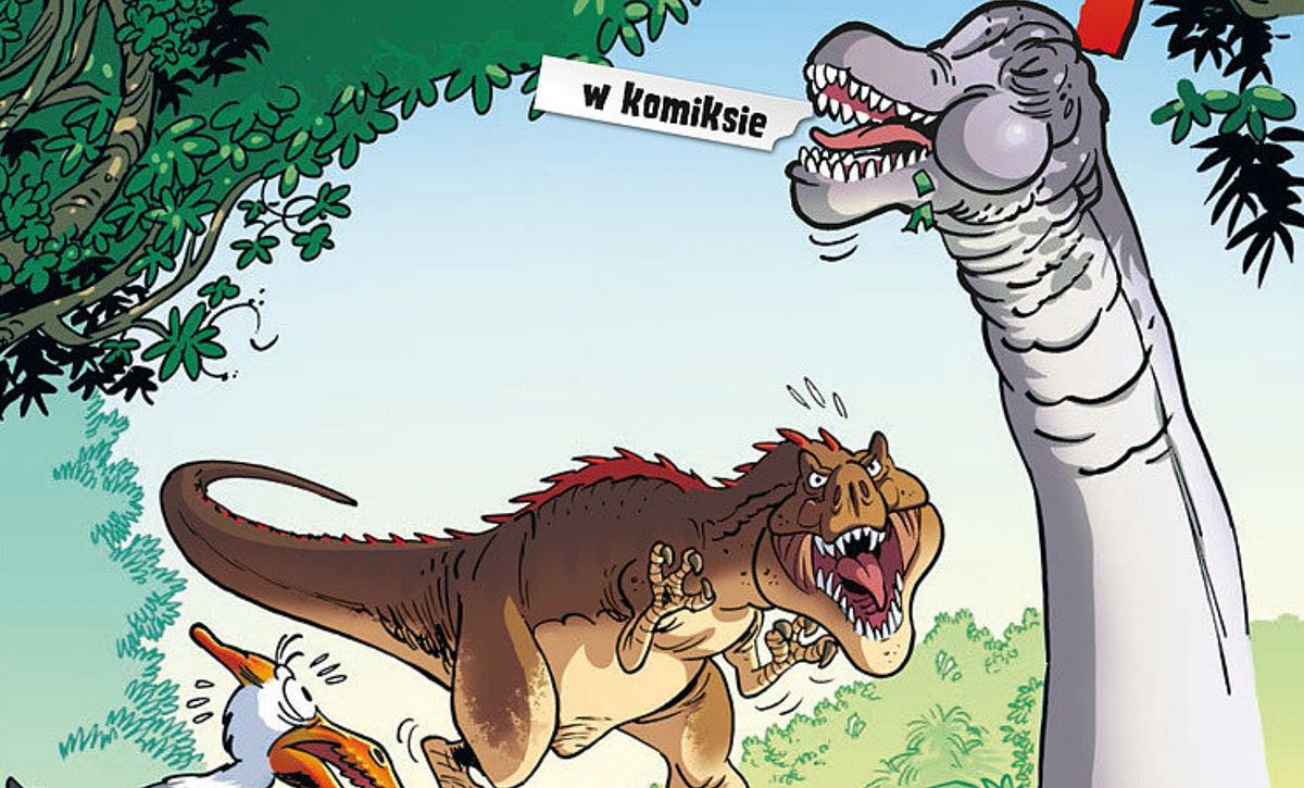 """Dinozaury w komiksie"", tom 3, scenariusz Arnaud Plumeri, rysunki Bloz"