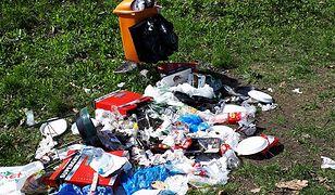 Śmieci przy Forcie Bema