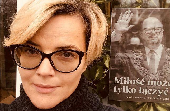 Zamachowska nie zjawi się na pogrzebie Adamowicza. Oddała mu cześć w inny sposób