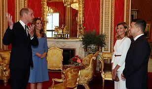 Książę William i księżna Kate gościli Wołodymira Zełeńskiego i jego żonę Ołenę