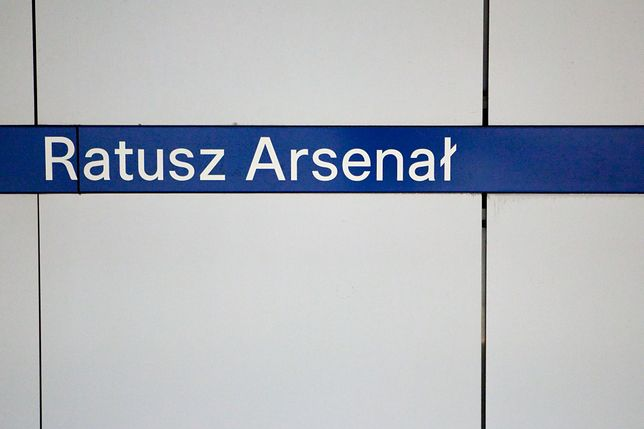 Na stacji Ratusz Arsenał doszło do wypadku